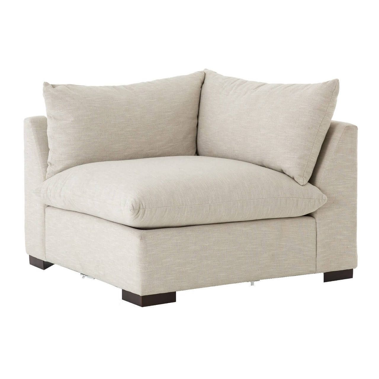 Grant Modern Oatmeal Sectional Corner Chair | Corner, Large Cushions And  Modern.