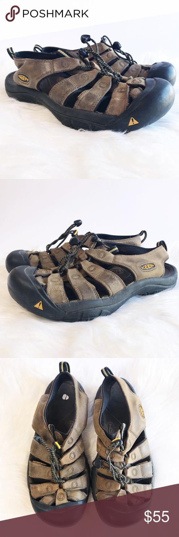 f2f234bc2fc5 Keen Mens Newport Sandals Brown Leather Waterproof Men s Keen Newport Brown Leather  Sandals - Hiking