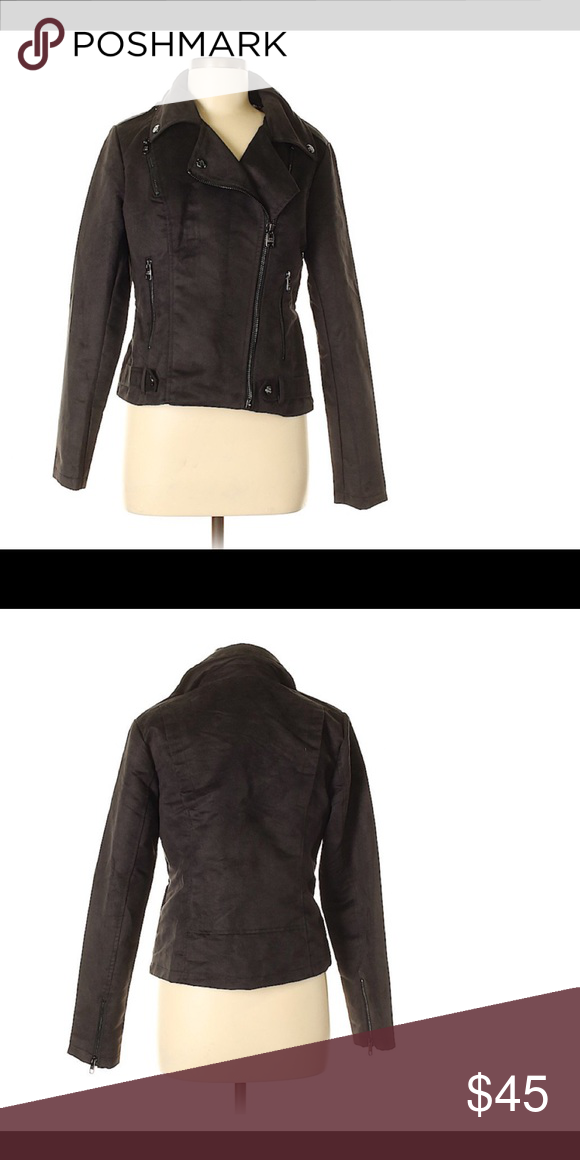 new product 9c243 560a1 Steve Madden Faux Suede Moto Jacket Steve Madden ...