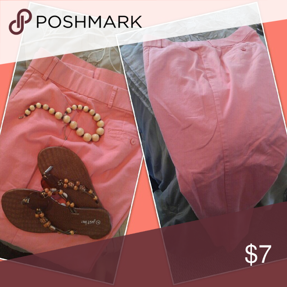 Pants Peach in color. Worn once. Pretty Cato Pants Ankle & Cropped