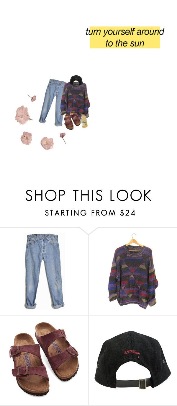 """""""tell me that you love me, and it'll be alright"""" by fashion-direction ❤ liked on Polyvore featuring Levi's, Birkenstock, Stussy and La Vie en Rose"""