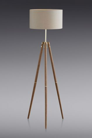 Attractive Henley Wooden Tripod Floor Lamp