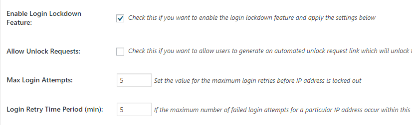limit login attempts WordPress