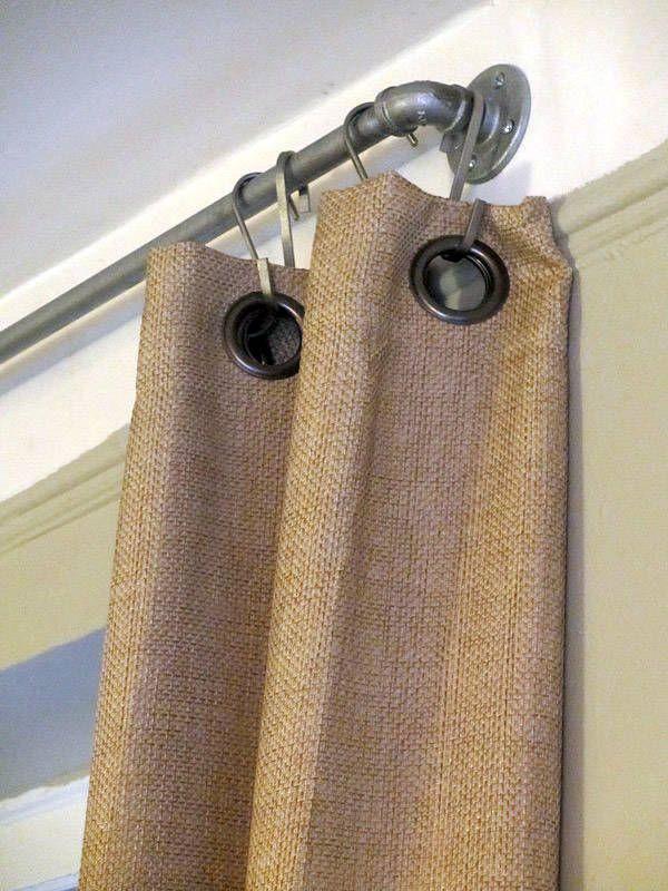 diy industrial vorhang stange für das schlafzimmer aus rohren - vorhänge für schlafzimmer