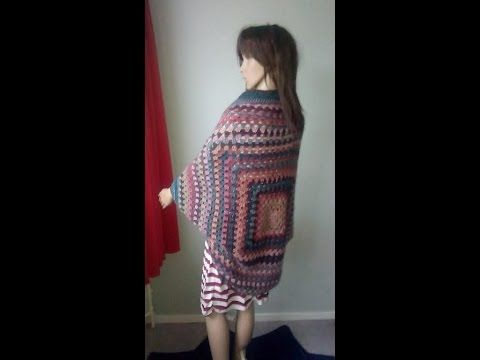 Haken Tutorial Granny Vest Youtube Boncho Crochit Video