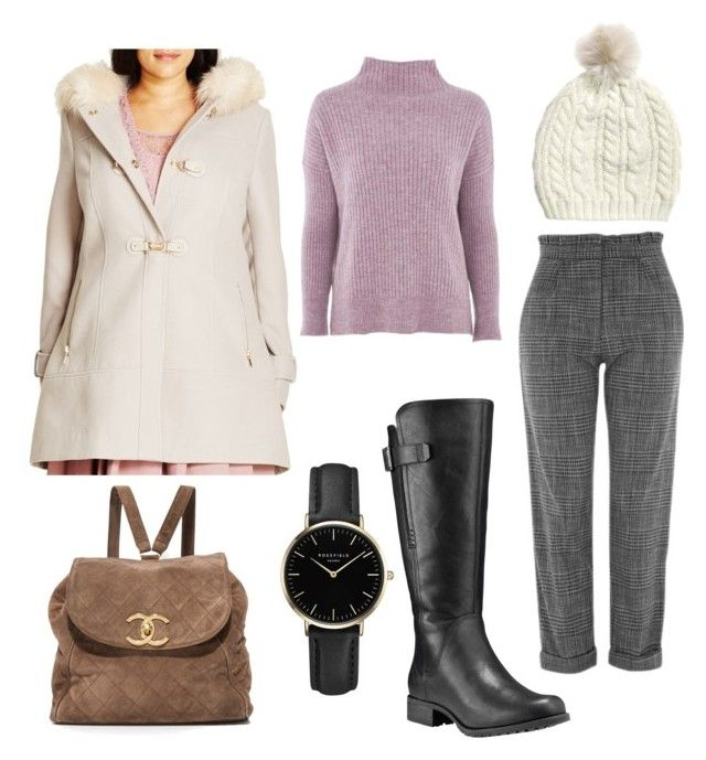 """Winter Work"" by waverlyc-1 ❤ liked on Polyvore featuring City Chic, Topshop, Timberland and ROSEFIELD"