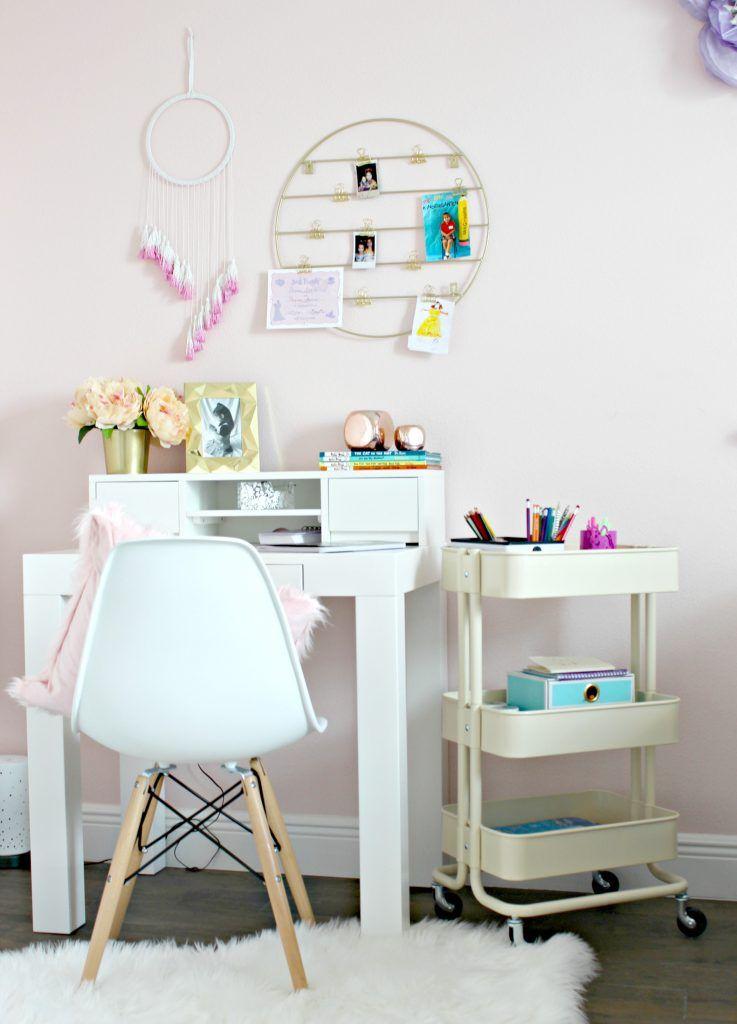 Diy Homework Space For Girls Alex The Real Housemom Girl Desk