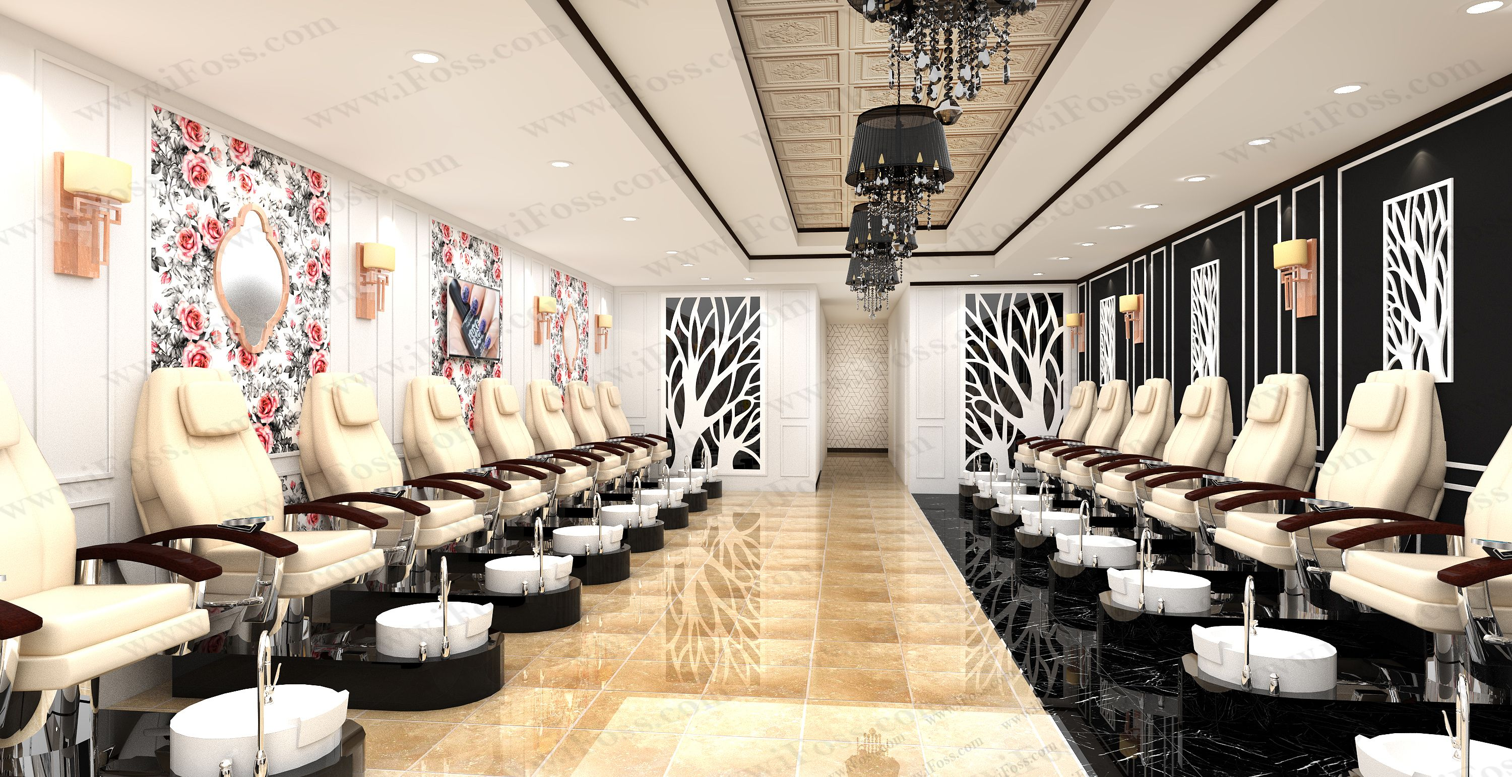 nail salon blueprint | The Nail Spa - Corporate Office - Al Barshaa ...