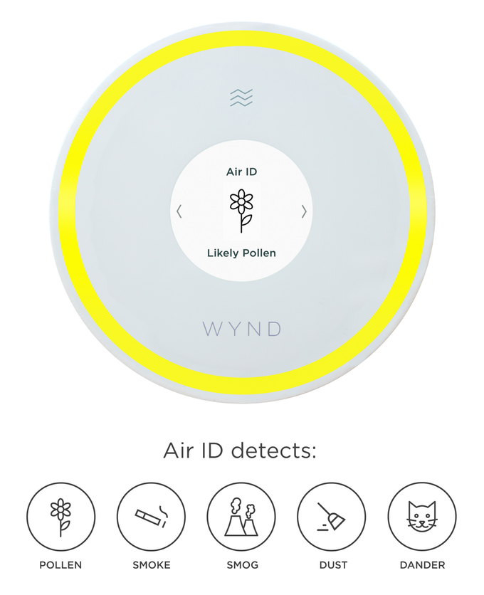 Wynd Halo + Home Purifier Keep your home's air healthy by