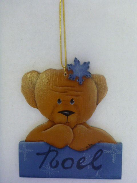 Christmas Ornament - Tole Painting, hand painted : T2 by CarolsCreations77 on Etsy