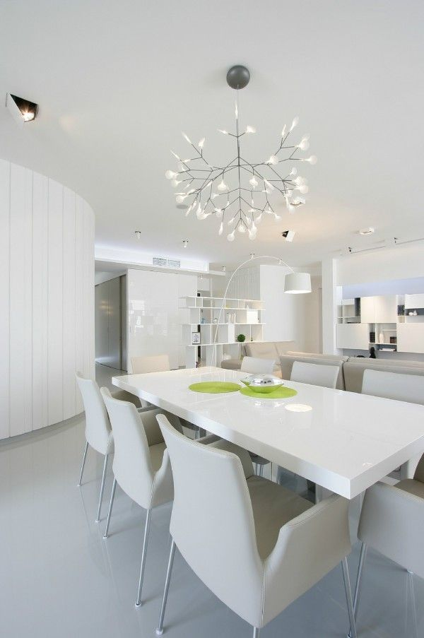 Gloss White Dining Table With Images White Dining Room Dining Room Design Modern Dining Table