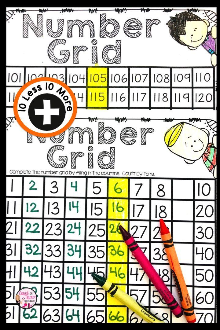 10 More 10 Less   100 More 100 Less   First Grade Math ...