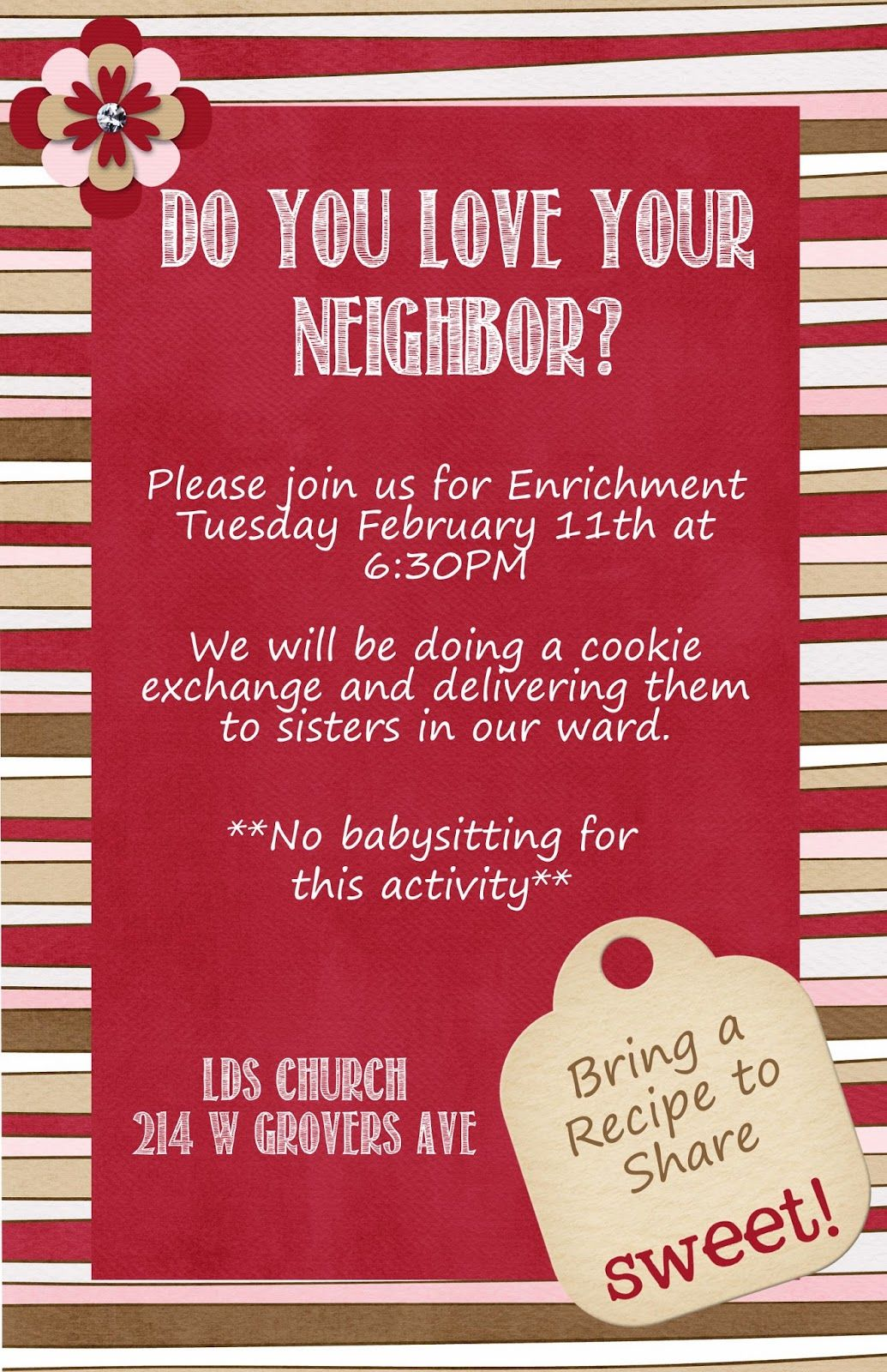 Cactus View Relief Society February Enrichment