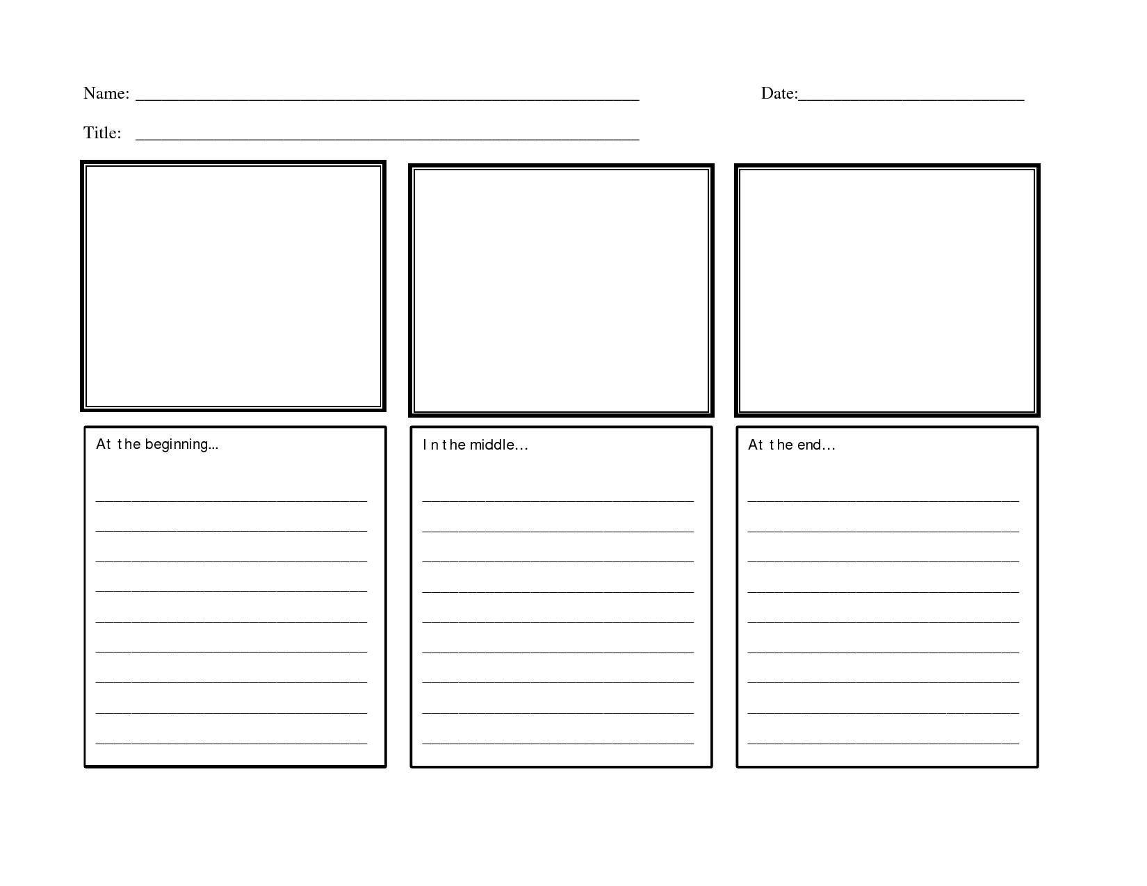 Free Printable Worksheets Beginning Middle End In