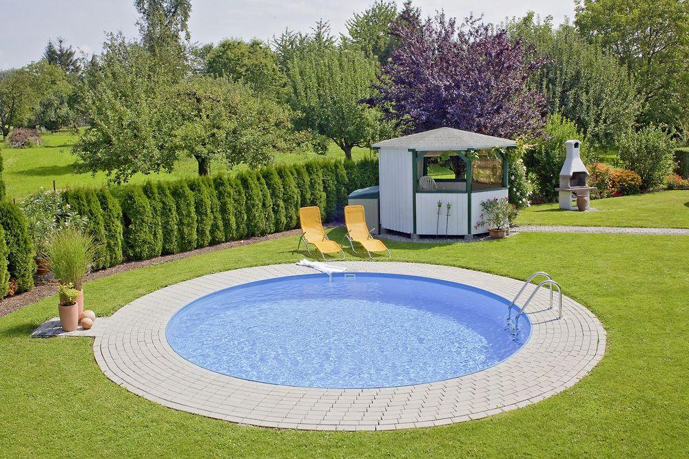 Rund Pool selber bauen Eine runde Pool Oase im eigenen Garten #pool #badelaune #poolimgartenideen