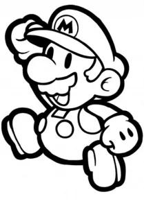 Colorear a Mario 【DIBUJOS en B/N para colorear de Super