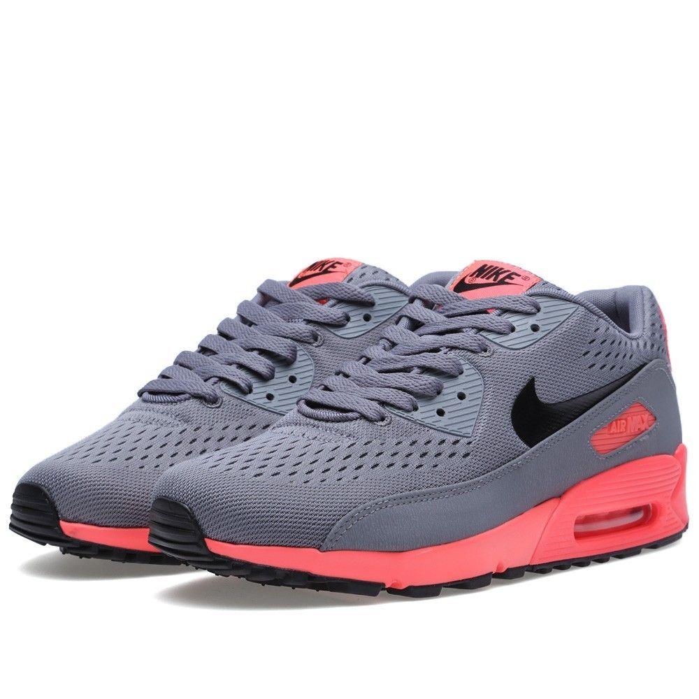 Pas cher France Nike Air Max 90 Premium ConPourt EM Cool Grise Noir Atomic  Rouge Homme Chaussures Achat