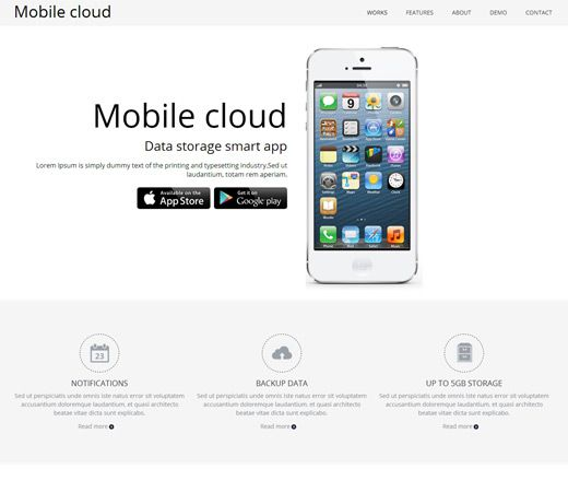 Mobile Website Templates 20 Free Responsive And Mobile Website Templates  Mobile Website