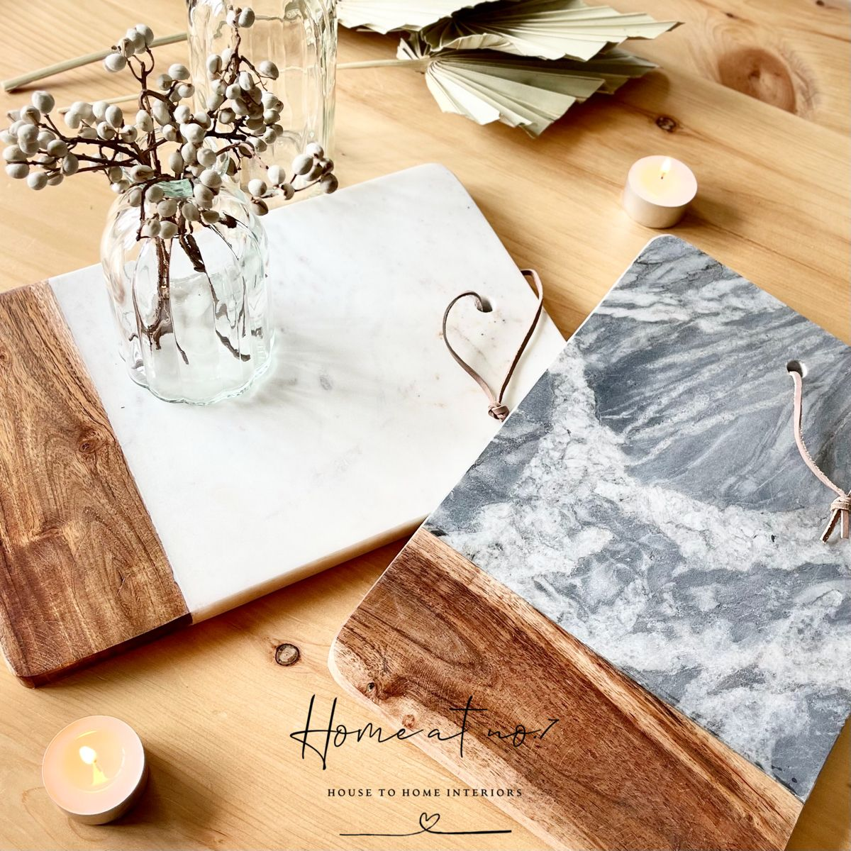 Photo of Marble and Acacia wood chopping / serving board