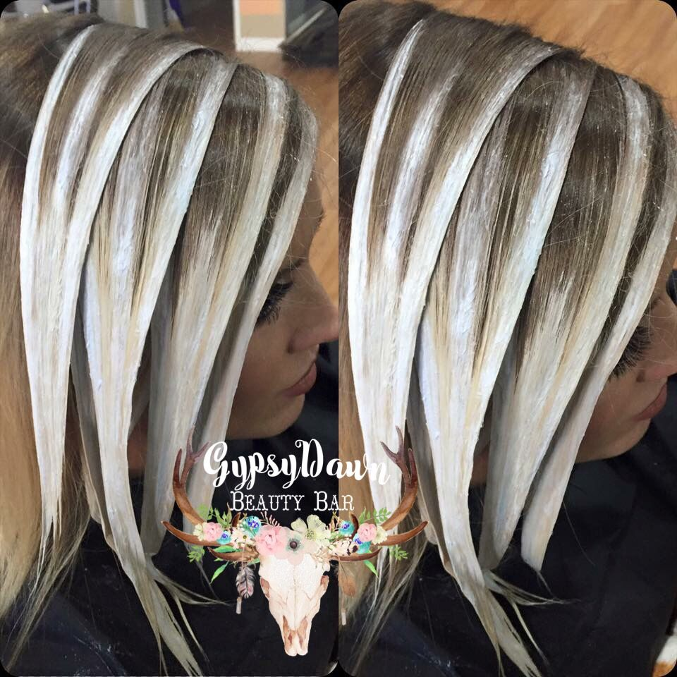Blonde balayage processing hairbyconnimaree