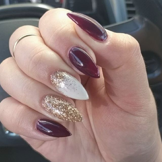 70+ Elegant Chic Classy Nail Designs Loved By Both Saint & Sinner (Updated 2020) - Burgundy Colors