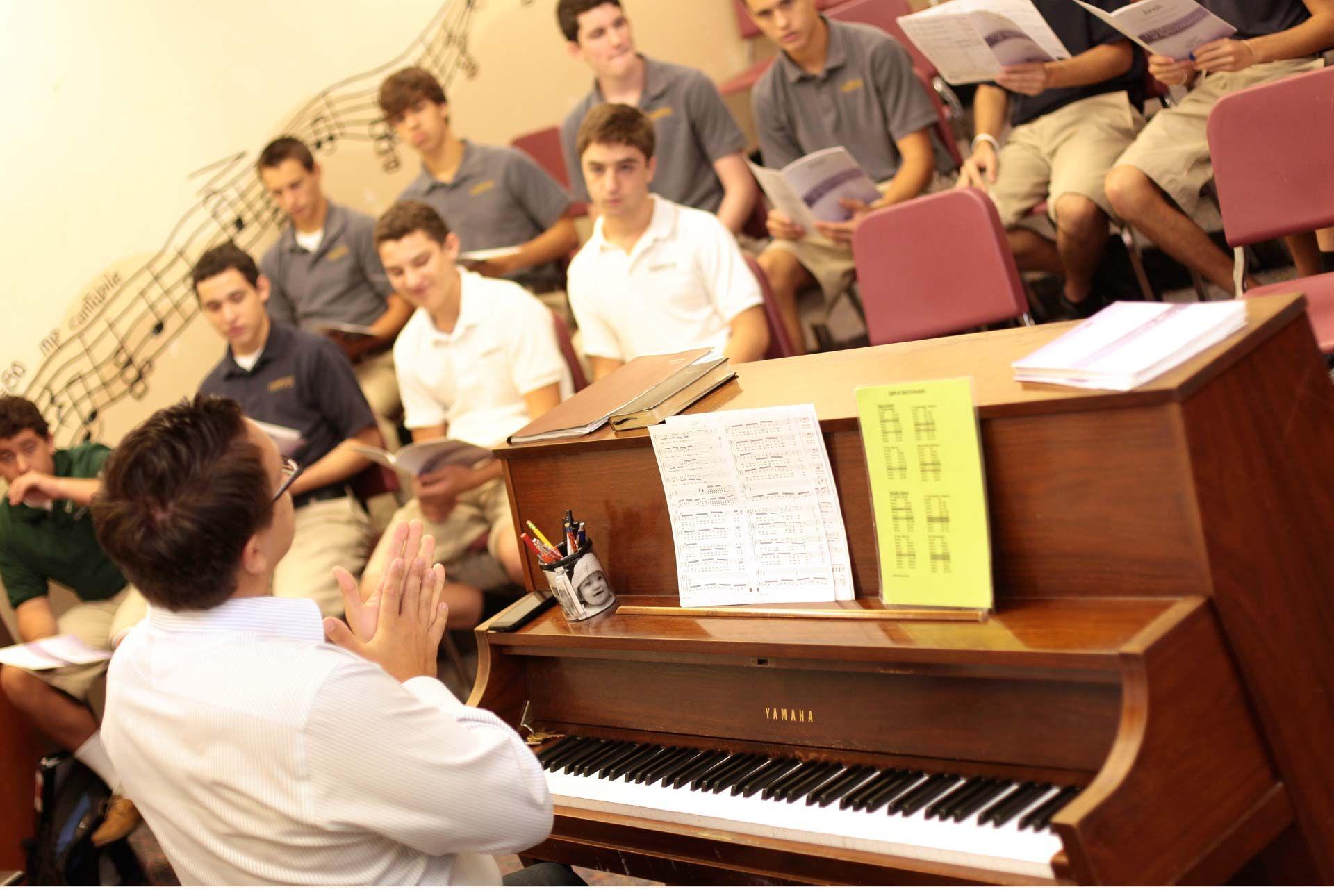 Cambridge Christian School choir room