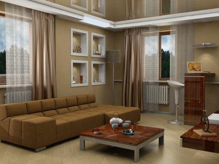Wanddeko Wohnzimmer - dekorative Wandnischen - Archzinenet