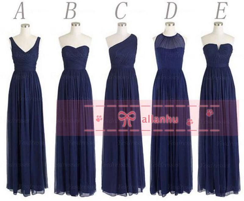 Bridesmaid Dress Different Necklines