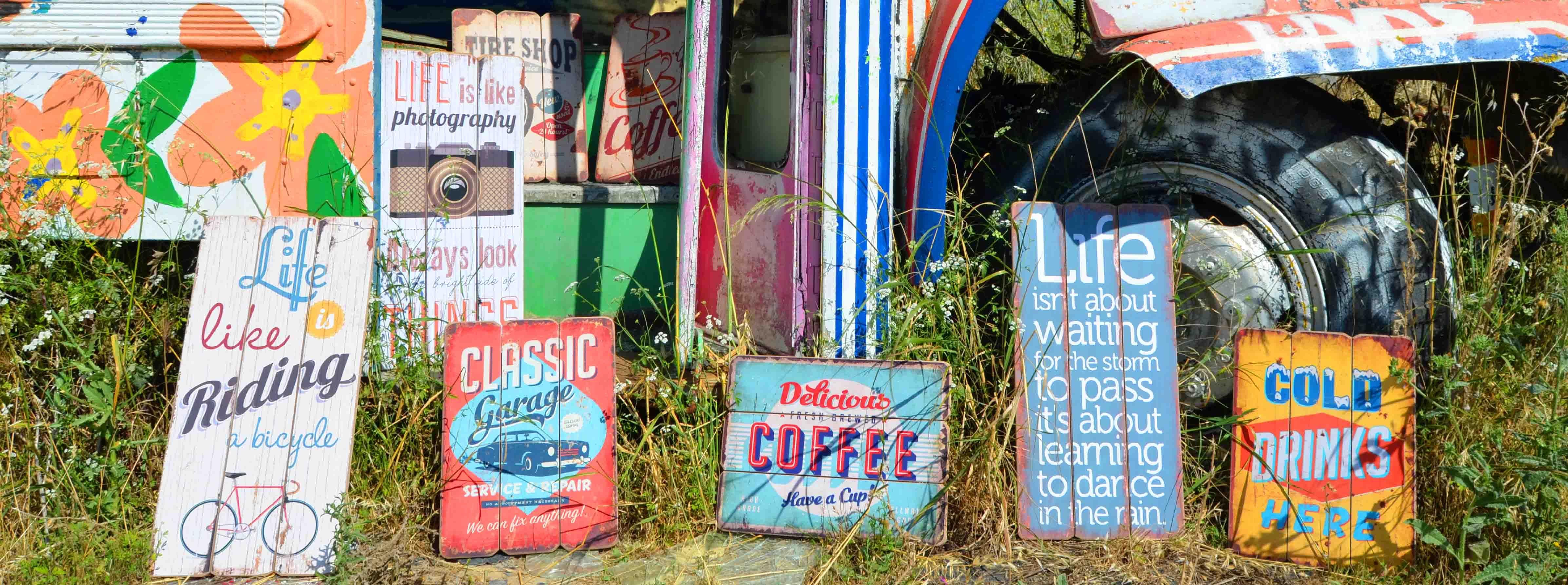 Cuadros retro-vintage realizados en listones de madera, ideales para ...