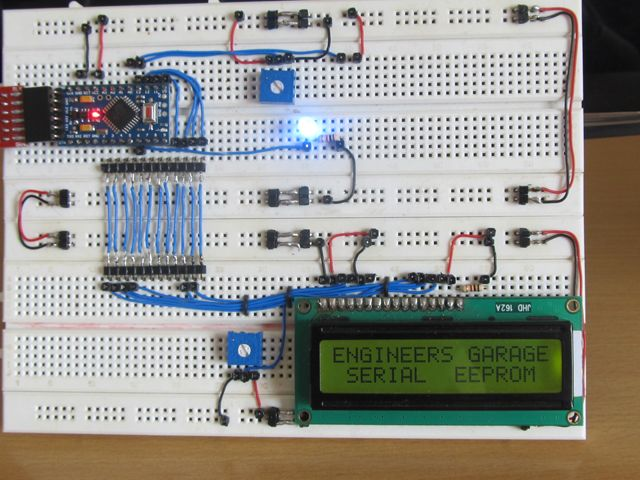 How To Connect The EEPROM of The Arduino To The Serial Port of a PC
