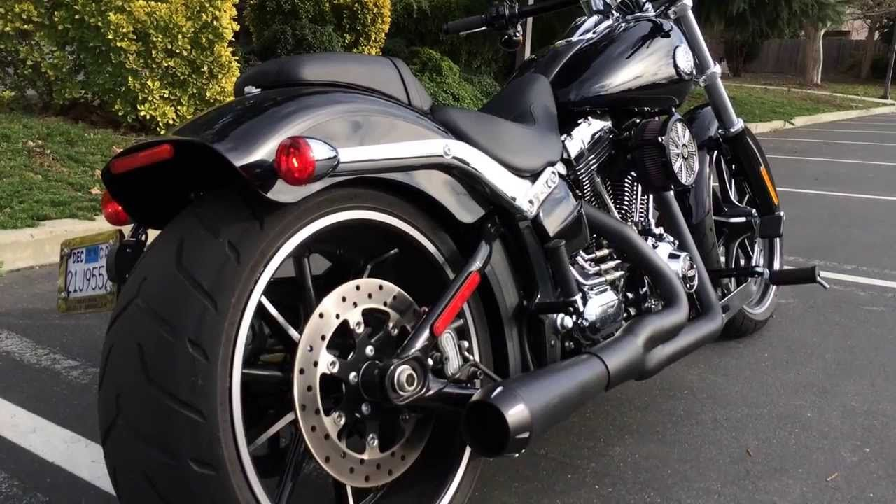 2014 harley fxsb breakout with bassani road rage 2 into 1 exhaust
