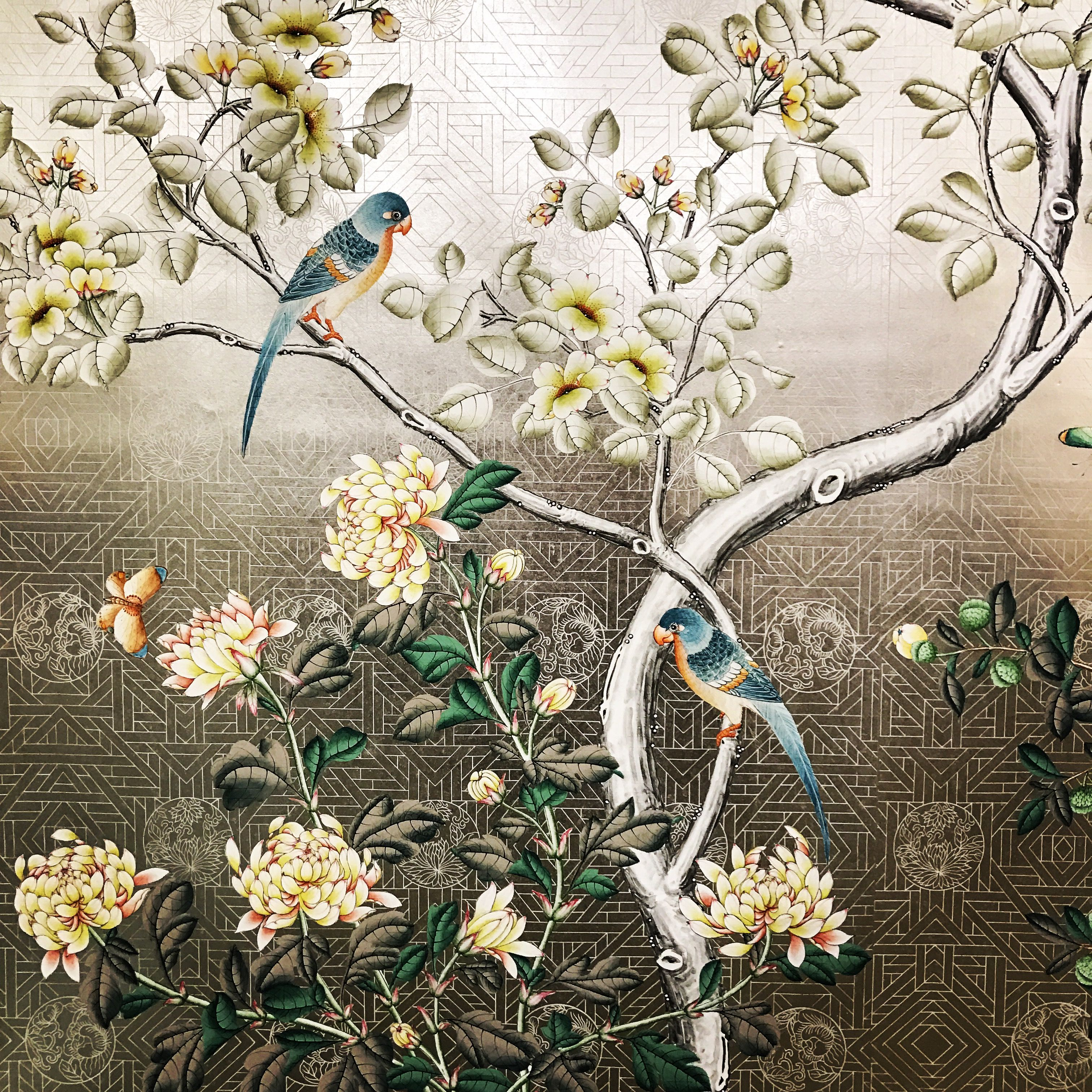 Pin by Gracie Studio on Gracie handpainted wallpapers