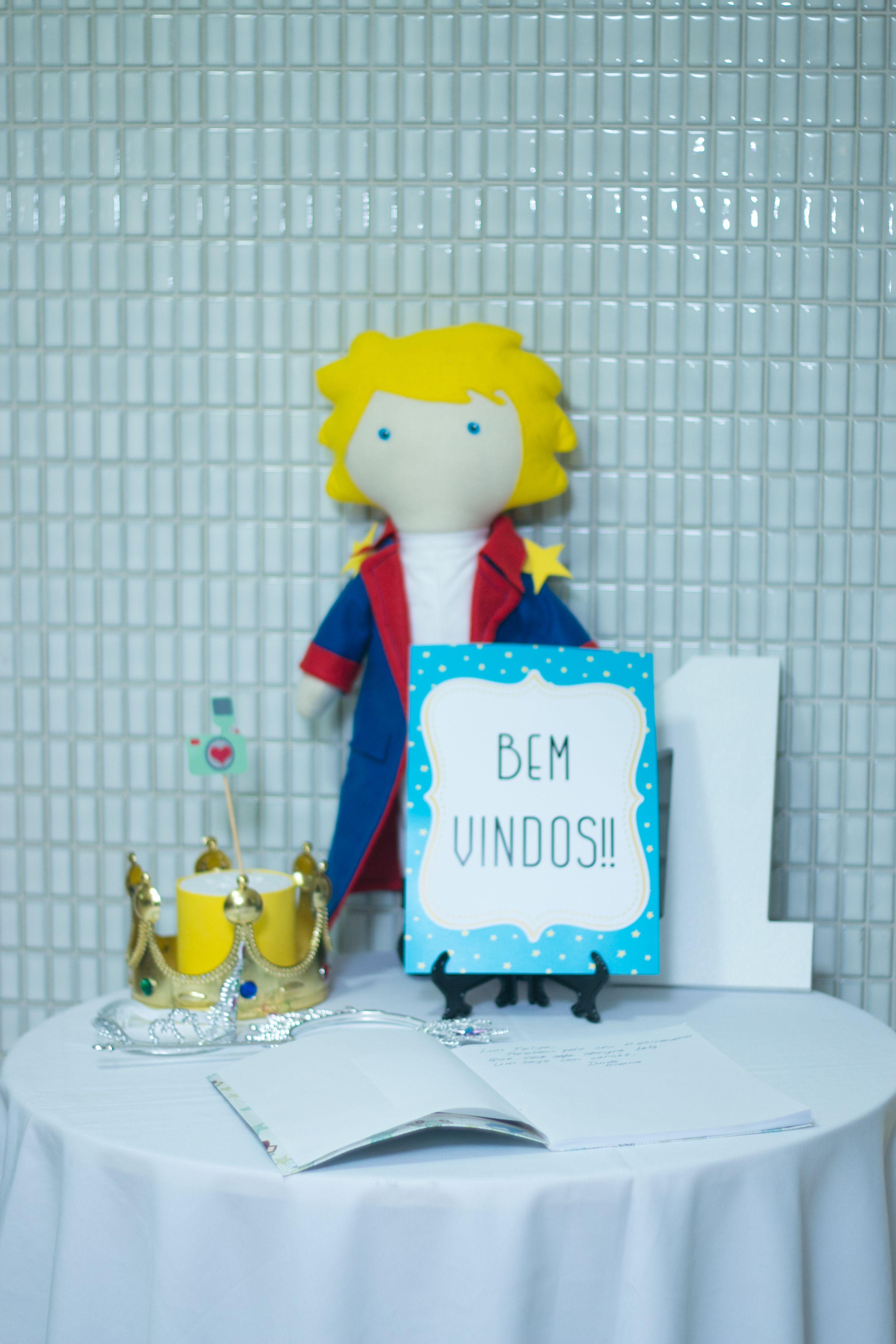 Pequeno príncipe - confecção de bonecos para a festa