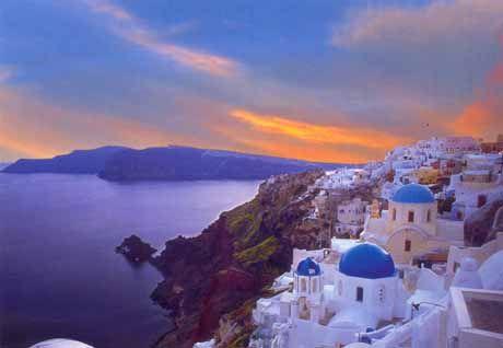 Relax at the beautiful island of Santorini, Greece