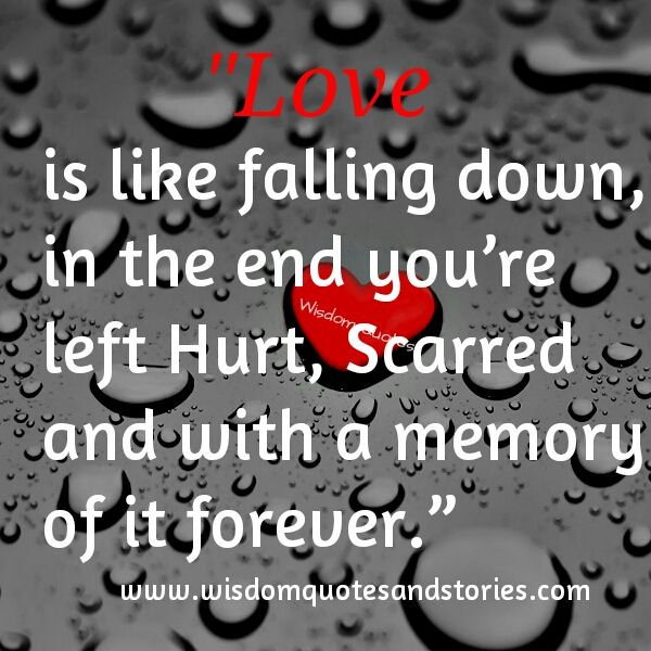 Love Is Like Falling Down, You Are Hurt,scarred With A Memory Forever.