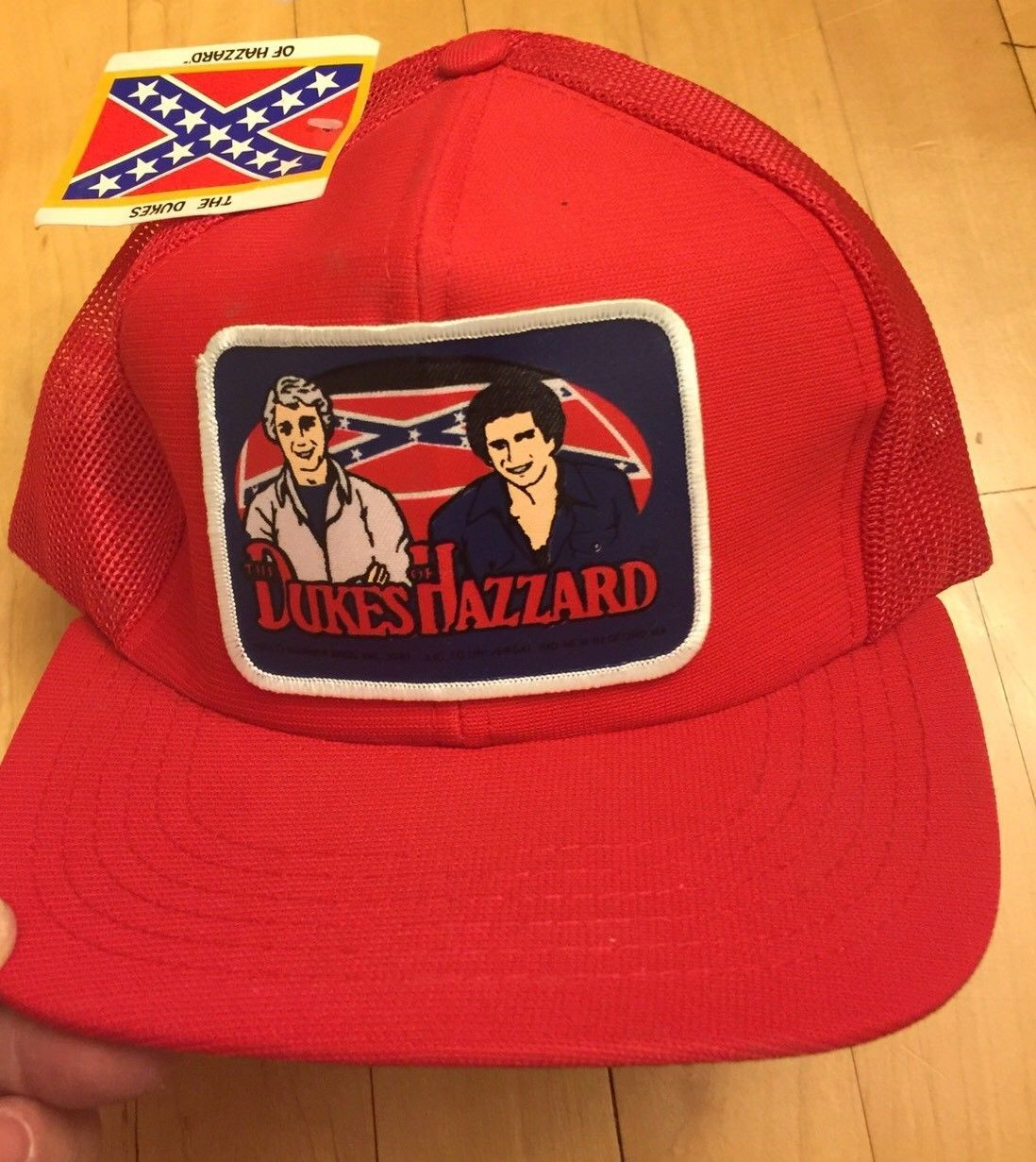 New vintage 1981 dukes of hazzard red hat usa made rare  076ffa0b7a8