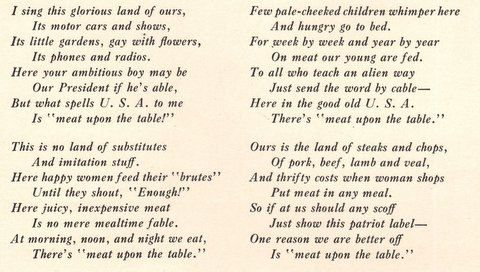 1940 Meat on the Table print ad Edgar A. Guest poem an by Vividiom, $9.00