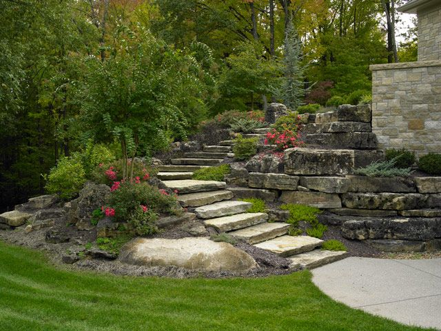 Natural Stone Boulder Landscaping Projects Detail By Aching Acres Landscaping Landscaping With Boulders Stone Landscaping Landscape Design
