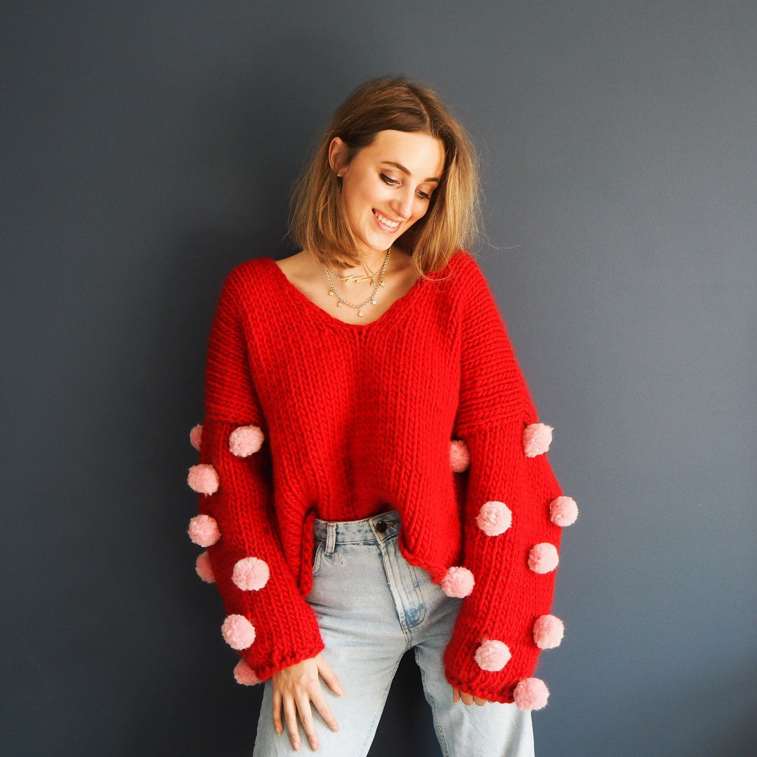 Photo of Shake Ya Pompoms Jumper Pattern — Lauren Aston Designs