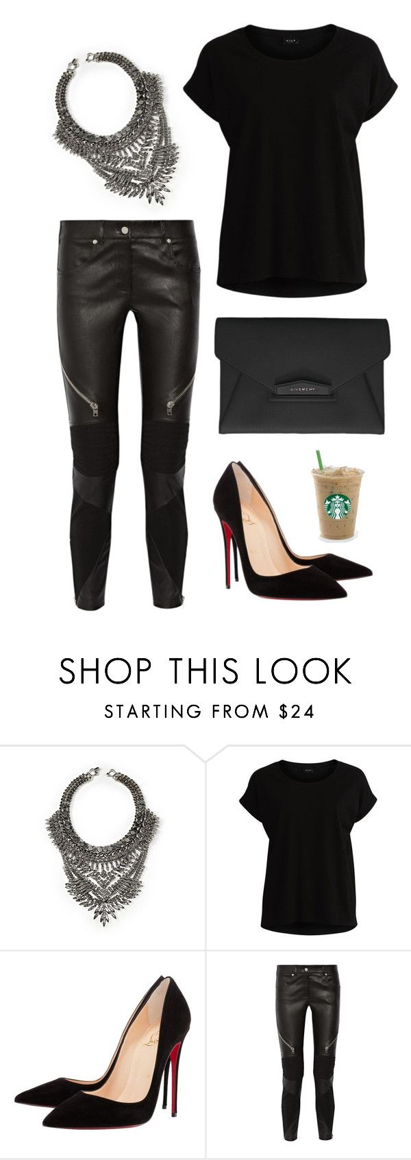 """""""Untitled #154"""" by mpxxi ❤ liked on Polyvore featuring DYLANLEX, VILA, Christian Louboutin and Givenchy"""