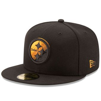 New Era Pittsburgh Steelers Black Color Dim 59FIFTY Fitted Hat  steelers   nfl  pittsburgh d4e70c8b8