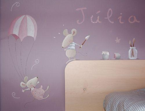 decoracion pared murales infantiles que cuentan historias
