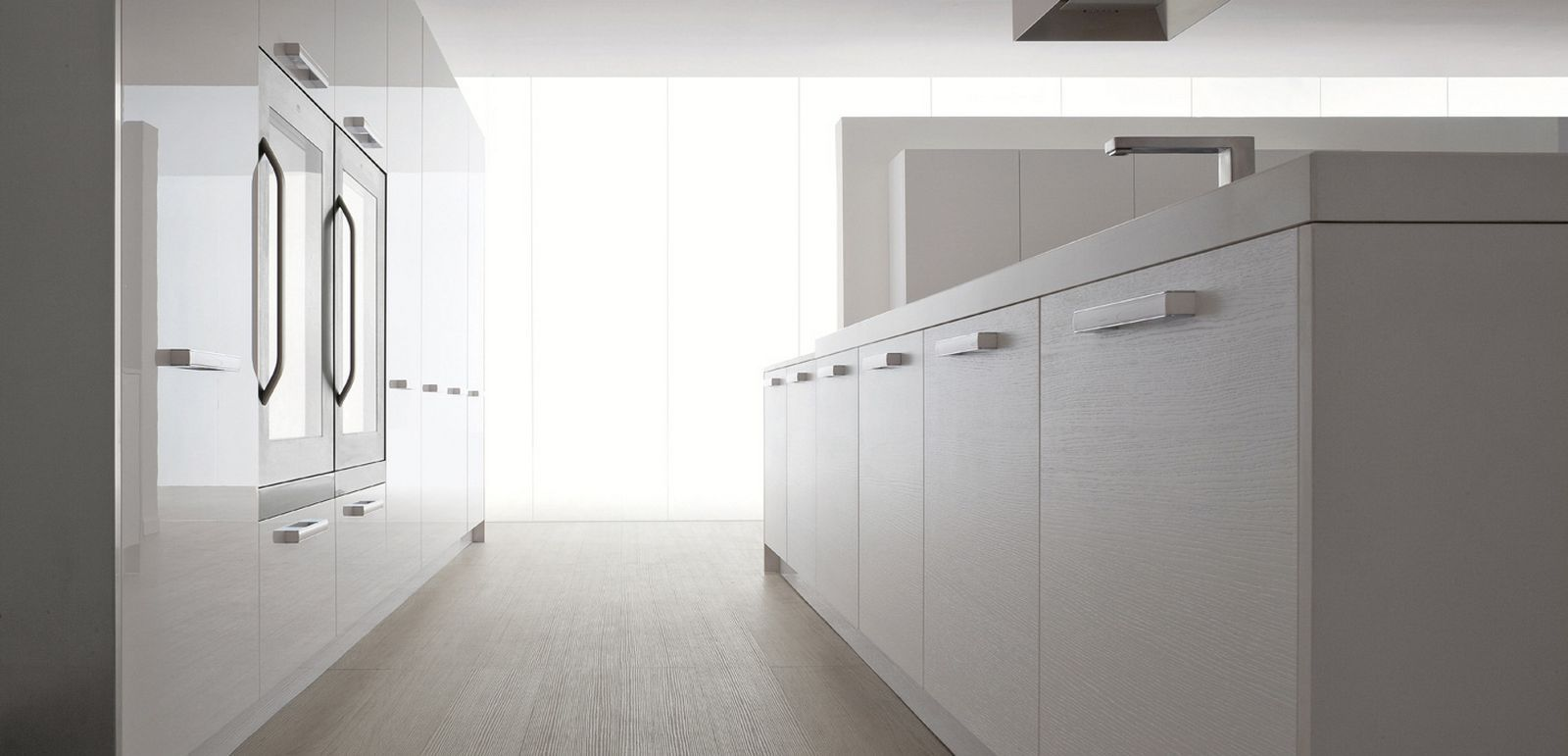 Divine Renovations White Kitchens #Sleek #Modern #White #Kitchen ...