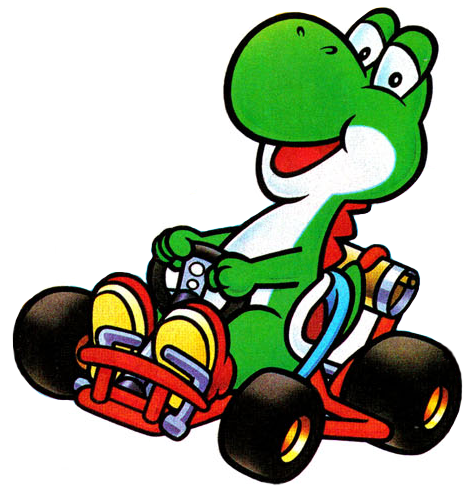 Yoshi In Kart For Super Mario Kart Png Super Mario Art Mario Kart Mario