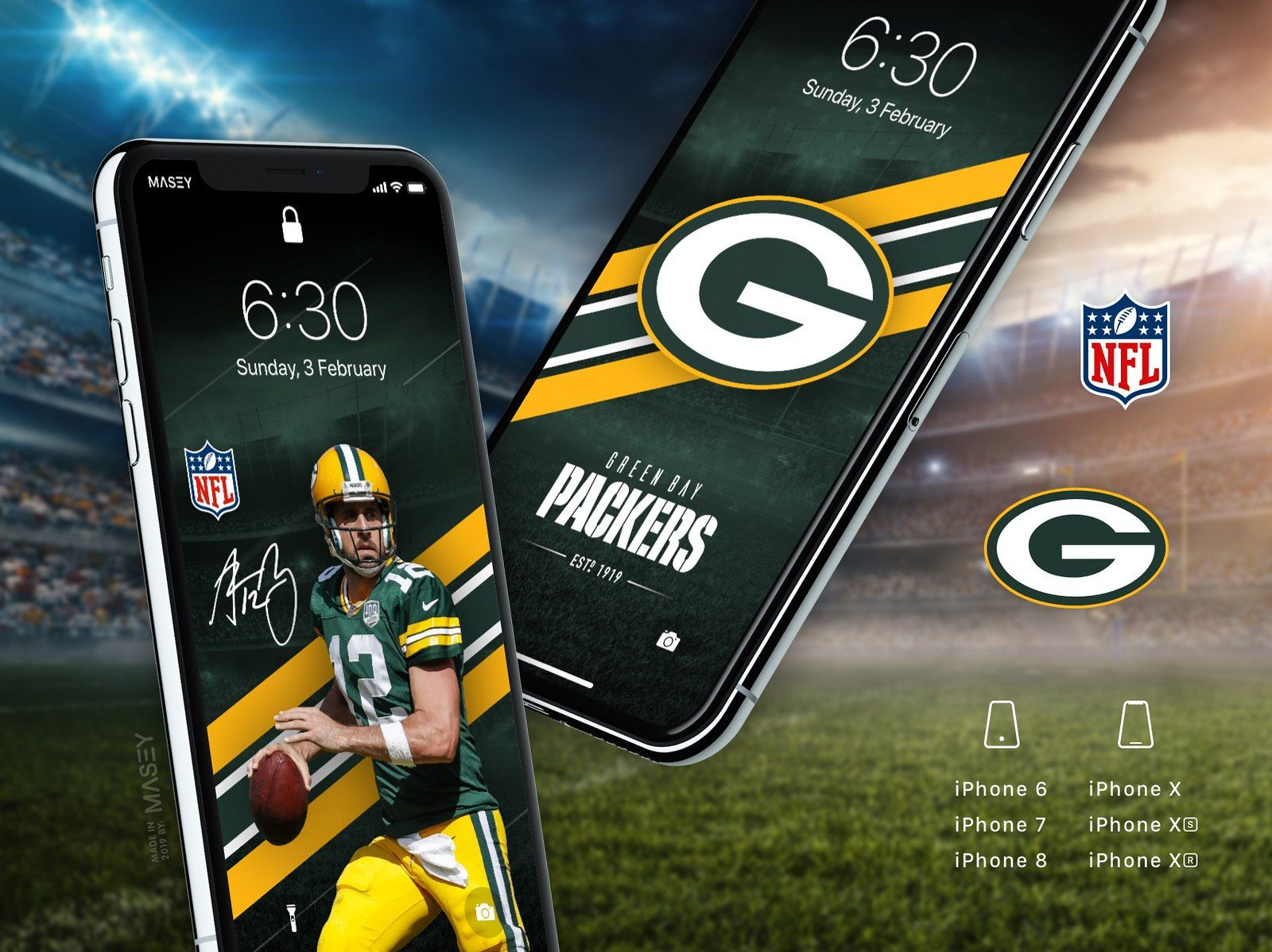 Green Bay Packers iPhone Wallpapers (With images) Iphone