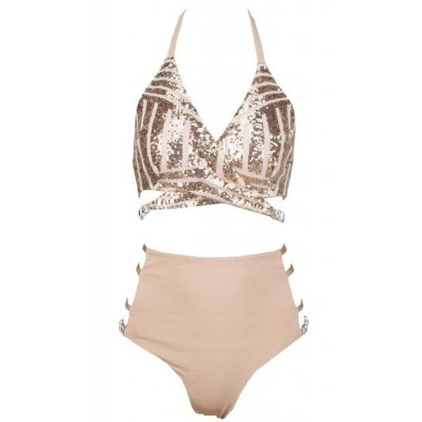 Deco Sequin Swimsuit 98 Liked On Polyvore Featuring Swimwear