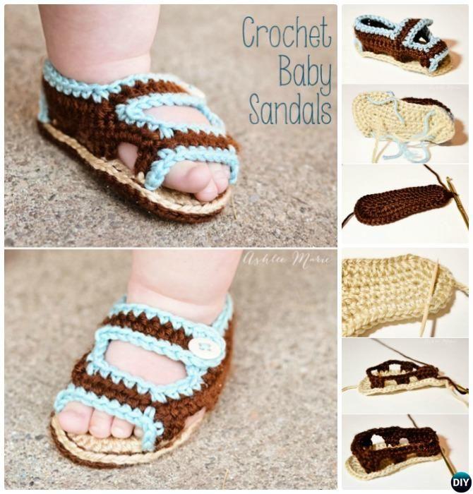Crochet Baby Flip Flop Sandals Free Patterns Roundup | Botas ...