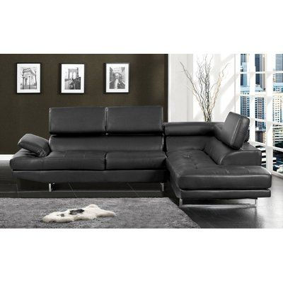 Hokku Designs Connor Right Hand Facing Sectional Upholstery Color