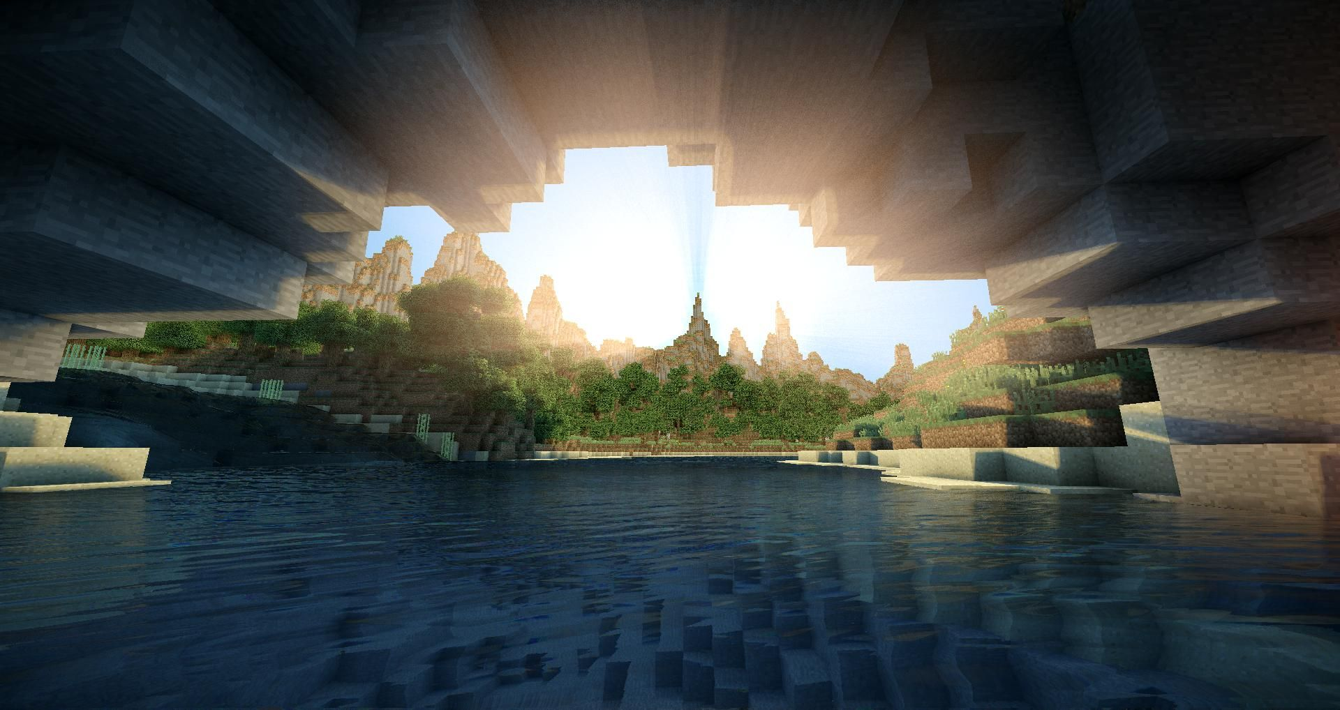 Minecraft Landscape Shaders 2560x1440 Google Search