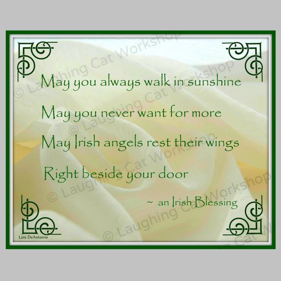 $12+-- A beautiful Irish Blessing for your house or as a - certificate sayings